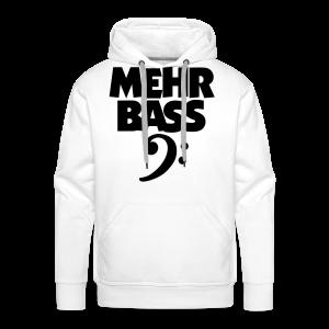 Mehr Bass T-Shirt (Weiß/Schwarz) - Männer Premium Hoodie