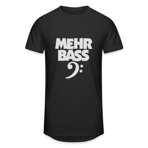 Mehr Bass T-Shirt (Schwarz/Weiß) - Männer Urban Longshirt