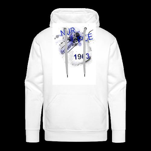 NURDERFCE - white edition MEN - Männer Premium Hoodie