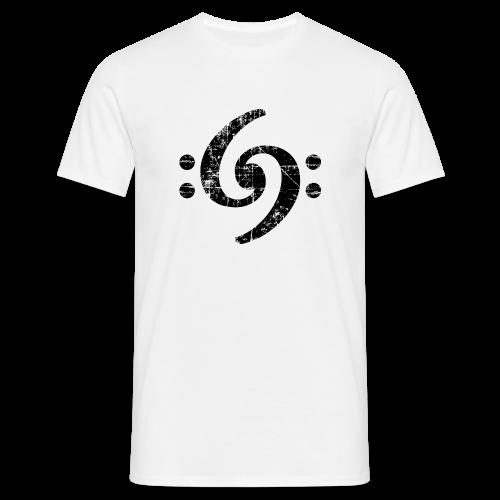 Double Bass Clef (Vintage Schwarz) S-3XL T-Shirt - Männer T-Shirt