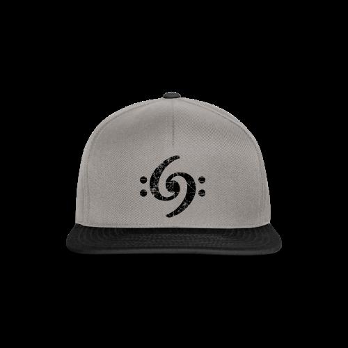 Double Bass Clef (Vintage Schwarz) S-3XL T-Shirt - Snapback Cap