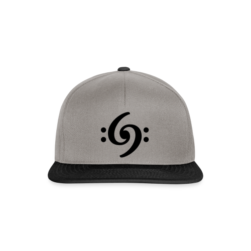 Double Bass Clef T-Shirt - Snapback Cap