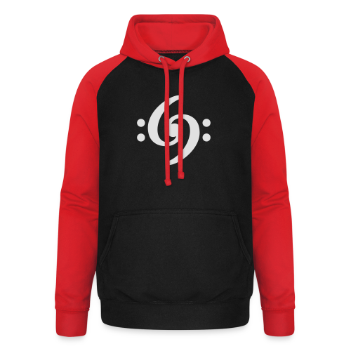 Double Bass Clef T-Shirt - Unisex Baseball Hoodie