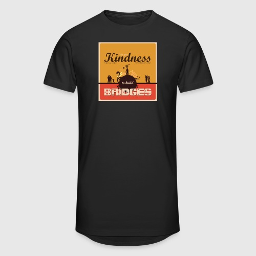 Mens tshirt with - Use your kindness to build bridges - Herre Urban Longshirt