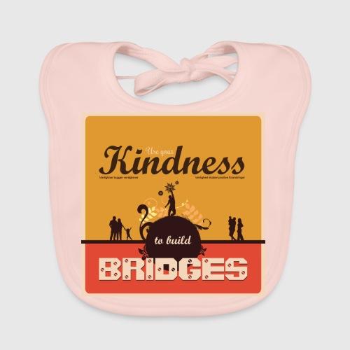 Mens tshirt with - Use your kindness to build bridges - Baby økologisk hagesmæk