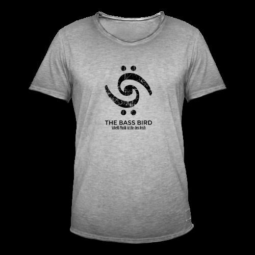THE BASS BIRD T-Shirt (Damen Weiß/Schwarz) - Männer Vintage T-Shirt