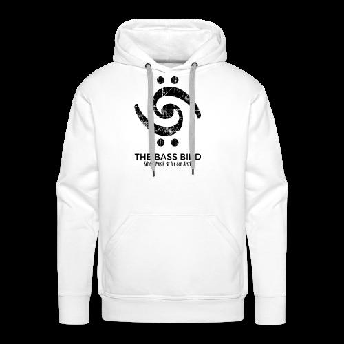 THE BASS BIRD T-Shirt (Damen Weiß/Schwarz) - Männer Premium Hoodie