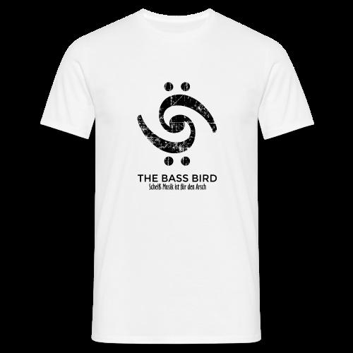 THE BASS BIRD T-Shirt (Damen Weiß/Schwarz) - Männer T-Shirt
