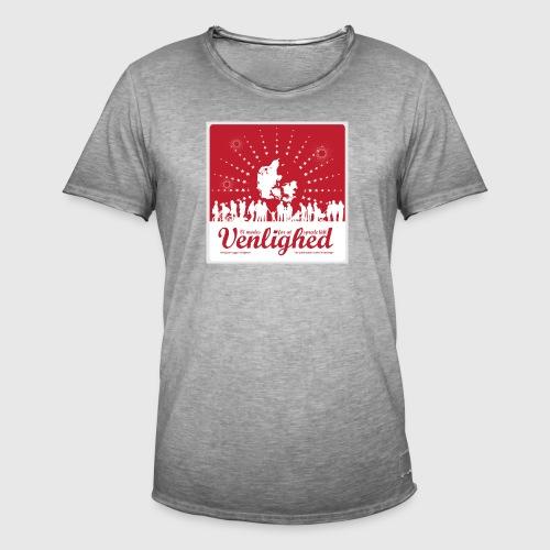 Mens t-shirt - Vi mødes for at sprede lidt venlighed - Herre vintage T-shirt