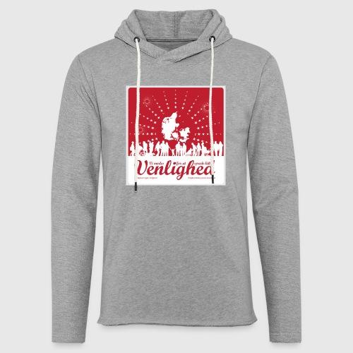 Mens t-shirt - Vi mødes for at sprede lidt venlighed - Let sweatshirt med hætte, unisex