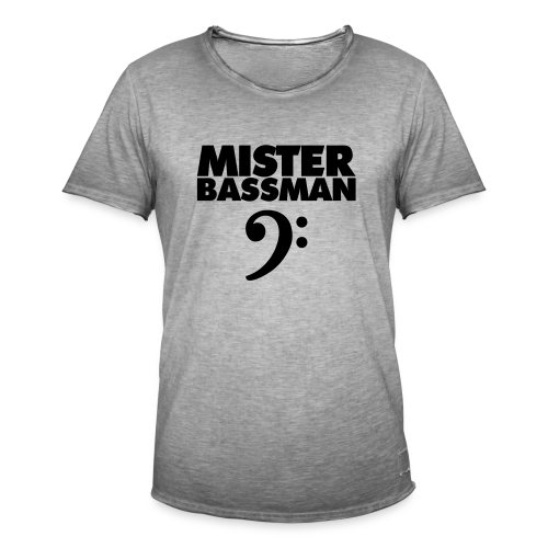 Mister Bassman T-Shirt (Weiß/Schwarz) Premium - Männer Vintage T-Shirt