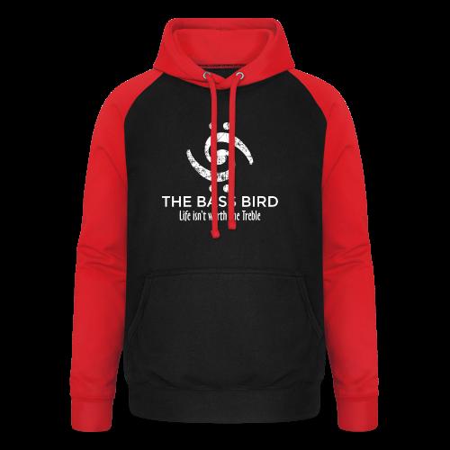 The Bass Bird T-Shirt (Damen Schwarz/Weiß) Premium - Unisex Baseball Hoodie