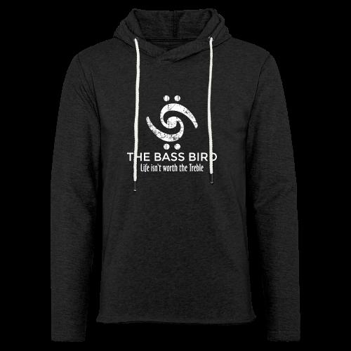 The Bass Bird T-Shirt (Damen Schwarz/Weiß) Premium - Leichtes Kapuzensweatshirt Unisex