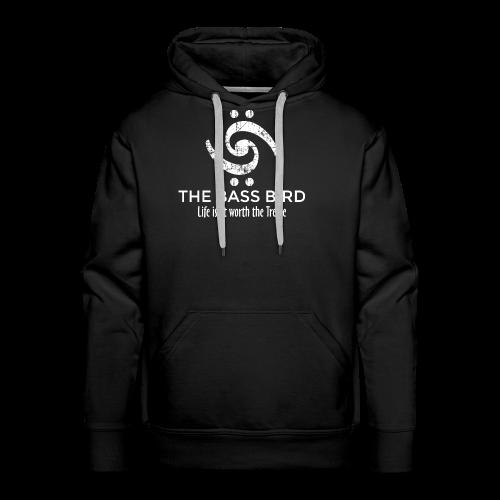 The Bass Bird T-Shirt (Damen Schwarz/Weiß) Premium - Männer Premium Hoodie