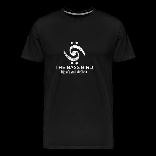 The Bass Bird T-Shirt (Damen Schwarz/Weiß) Premium - Männer Premium T-Shirt