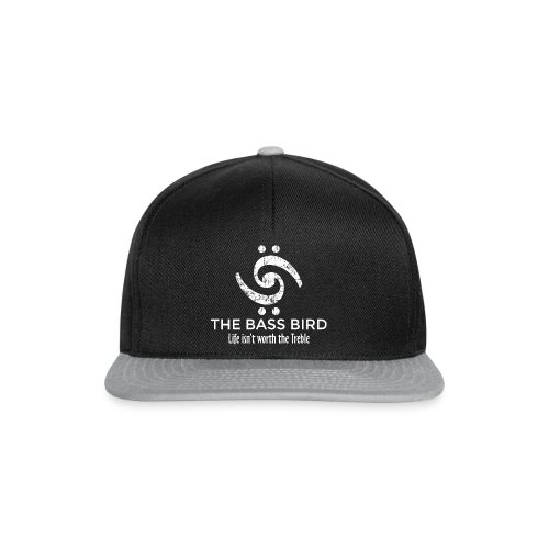 The Bass Bird T-Shirt (Damen Schwarz/Weiß) Premium - Snapback Cap