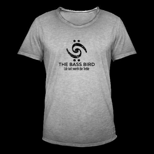 The Bass Bird T-Shirt (Damen Weiß/Schwarz) Premium - Männer Vintage T-Shirt