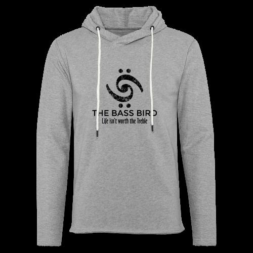The Bass Bird T-Shirt (Damen Weiß/Schwarz) Premium - Leichtes Kapuzensweatshirt Unisex