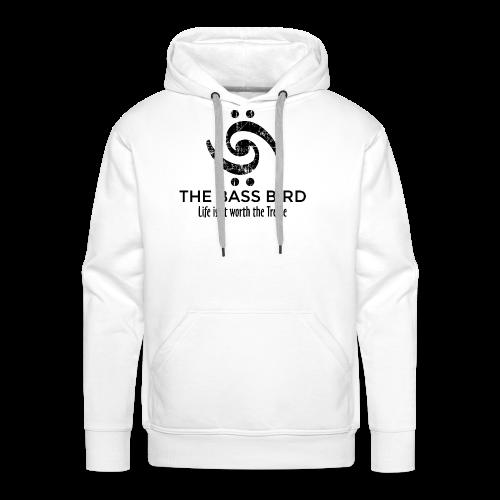 The Bass Bird T-Shirt (Damen Weiß/Schwarz) Premium - Männer Premium Hoodie