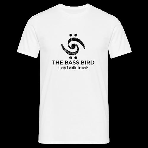 The Bass Bird T-Shirt (Damen Weiß/Schwarz) Premium - Männer T-Shirt