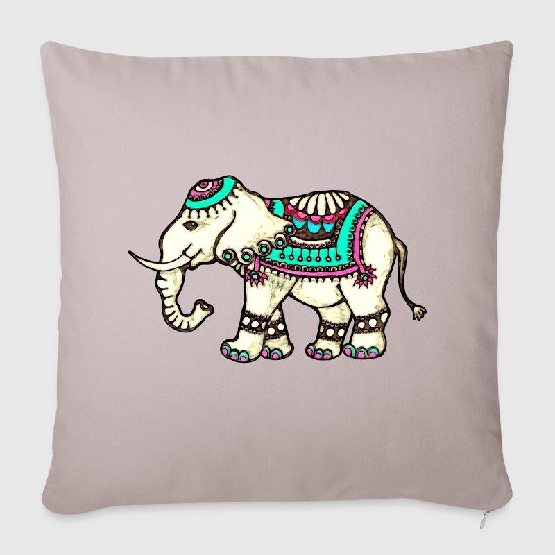 Indischer Elefant, Ethno, Tier, Afrika, Indien,  S - Sofakissenbezug 44 x 44 cm