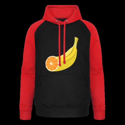 Orangen Banane Shirt - Unisex Baseball Hoodie