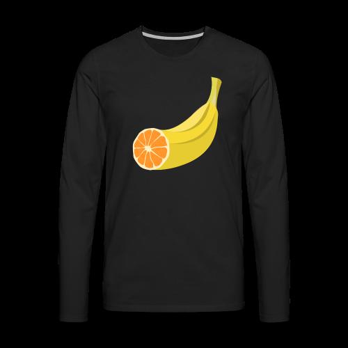Orangen Banane Shirt - Männer Premium Langarmshirt