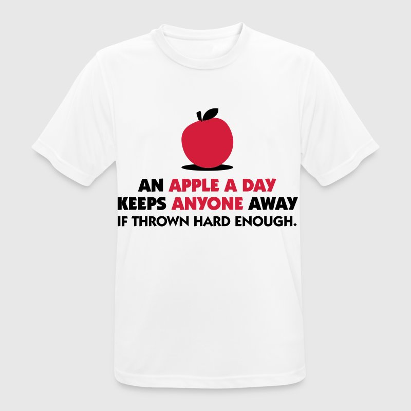 An apple a day keeps everyone away! T-Shirts - Men's Breathable T-Shirt