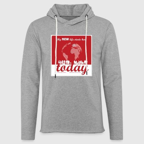 Mens Tshirt. - My NEW life starts today - Let sweatshirt med hætte, unisex