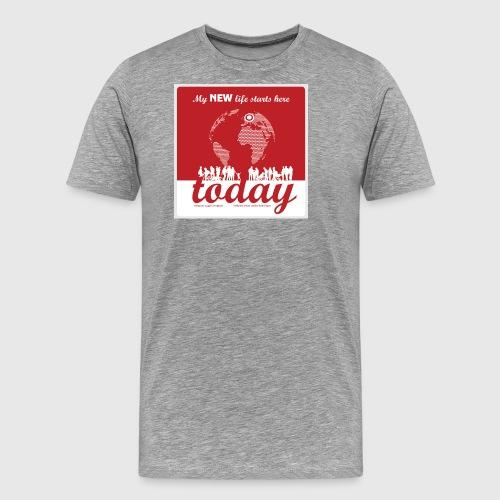 Mens Tshirt. - My NEW life starts today - Herre premium T-shirt