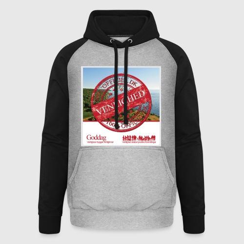 Mens Sweatshirt  - 100% dk venlighed - Unisex baseball hoodie