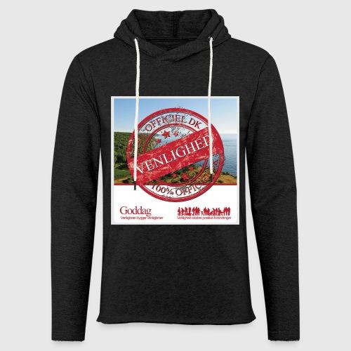Mens Sweatshirt  - 100% dk venlighed - Let sweatshirt med hætte, unisex