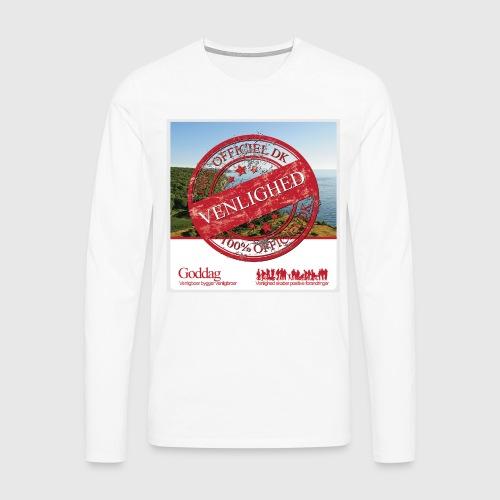 Mens Sweatshirt  - 100% dk venlighed - Herre premium T-shirt med lange ærmer