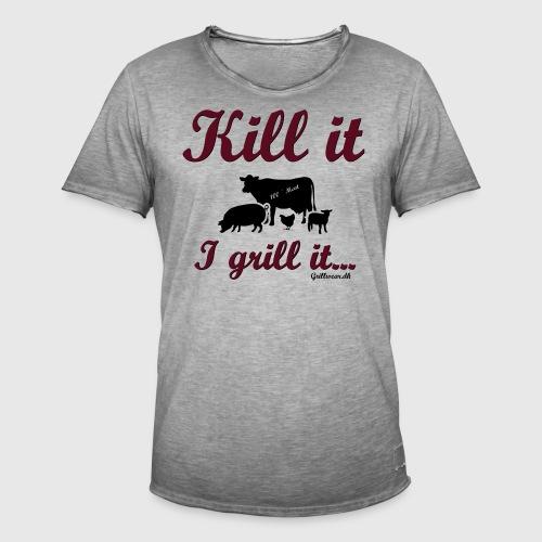 Kill it I grill it - Herre vintage T-shirt