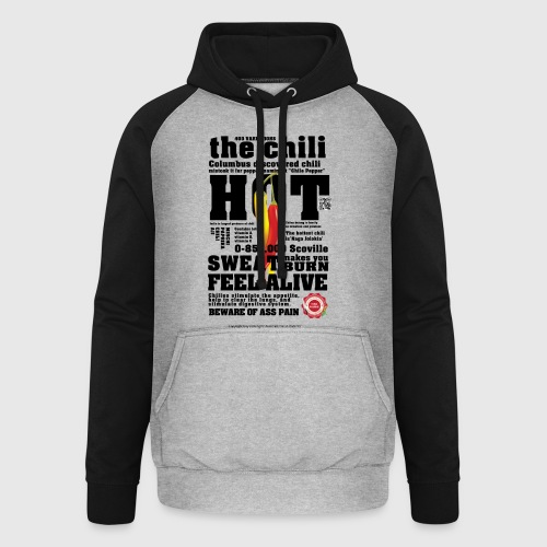 The chili - Hot - Unisex baseball hoodie