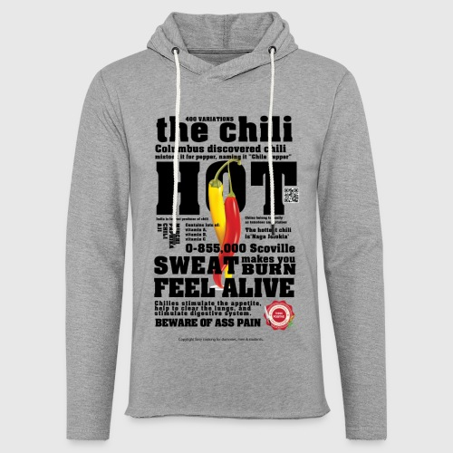 The chili - Hot - Let sweatshirt med hætte, unisex