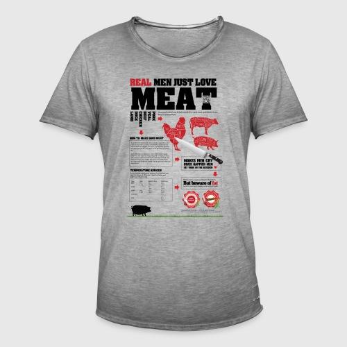 Real men just love meat - Herre vintage T-shirt