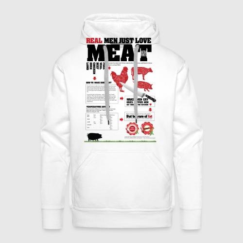 Real men just love meat - Herre Premium hættetrøje