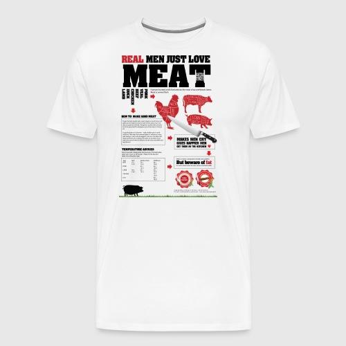Real men just love meat - Herre premium T-shirt