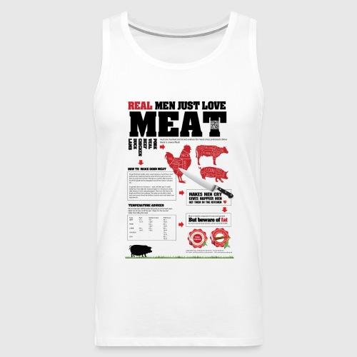 Real men just love meat - Herre Premium tanktop