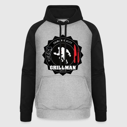Grillman - The hero - Unisex baseball hoodie