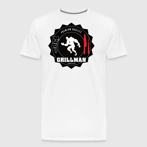 Grillman - The hero - Herre premium T-shirt