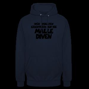 Mallediven Malle Team T-Shirt (Damen Divablau/Weiß) - Unisex Hoodie