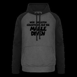 Mallediven Malle Team T-Shirt (Damen Divablau/Weiß) - Unisex Baseball Hoodie