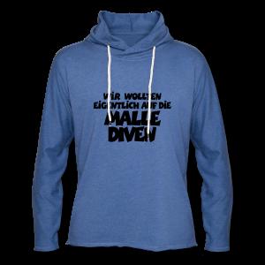 Mallediven Malle Team T-Shirt (Damen Divablau/Weiß) - Leichtes Kapuzensweatshirt Unisex