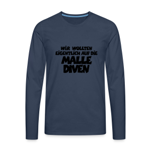 Mallediven Malle Team T-Shirt (Damen Divablau/Weiß) - Männer Premium Langarmshirt