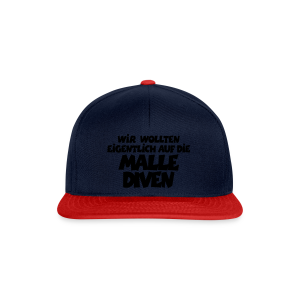 Mallediven Malle Team T-Shirt (Damen Divablau/Weiß) - Snapback Cap