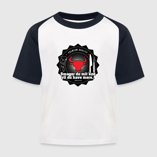Smager du mit kød vil du have mere.. - Baseball T-shirt til børn