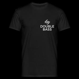 Kontrabass T-Shirt Double Bass Weiß/Brust - Männer T-Shirt