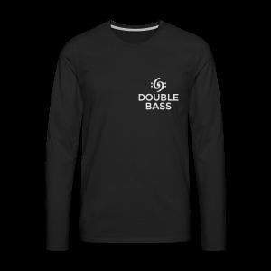 Kontrabass T-Shirt Double Bass Weiß/Brust - Männer Premium Langarmshirt
